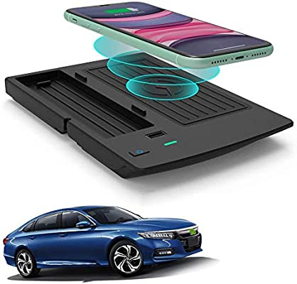 Wireless Charger for Honda Accord 2018 2019 2020 Accessories with Fast Charging Charger Phone Wireless Charging Pad Mat fit for 10th Gen Honda Accord