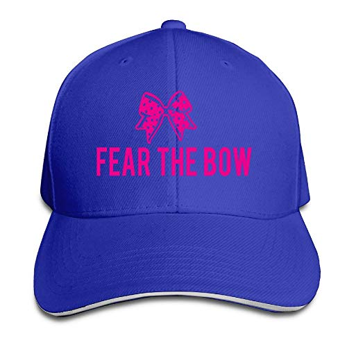 e Bow Stylish Baseball Fitted Cap RoyalBlue ()