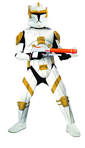 Commander Cody Star Costume Wars (Star Wars Men's Deluxe Commander Cody Clone Trooper Costume, Multi,)
