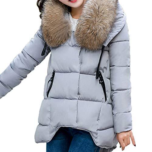 Linlink Mujeres con Capucha Outwear Otoño Invierno cálido Abrigo de Piel Gruesa Cuello de algodón Parka Slim Chaqueta: Amazon.es: Ropa y accesorios