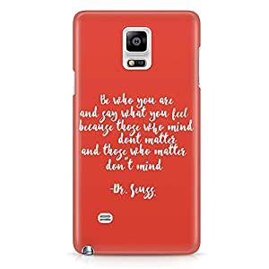 Loud Universe Dr seuss Dont Matter Dont Mind Quote Samsung Note 5 Case Classic Book Story Samsung Note 5 Cover with 3d Wrap around Edges