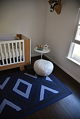TRIBE WEST Baby Playmat Easy Clean Large Non-Toxic Activity Floor Mat for Crawling Babies, Toddlers, Boy or Girl, Natural Rubber, Durable, Indoor and Outdoor, Designed With Artisans (Arusha Shanga)