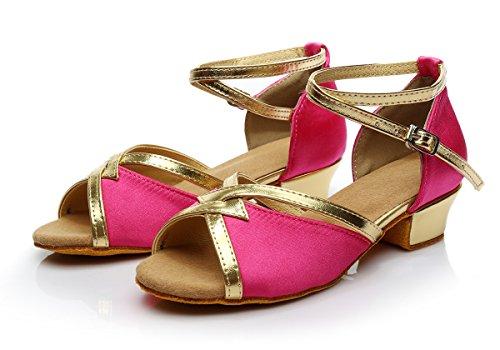 ShangYi 3 shoes dance children's height 5cm dance dance shoes women's children's dance shoes shoes Latin Latin children Rose 4rRxwZ4