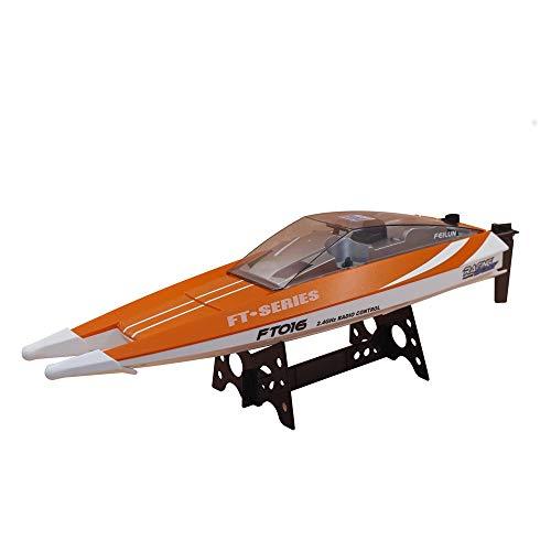 ランフィー Lanfy FT016 47CM 2.4 g 4ch Rc ボート540ブラシをかけた 28km/h の高速水冷却システムおもちゃ - オレンジ