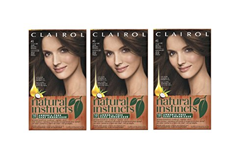 Clairol Natural Instincts Hair Color 28G Golden Cappuccino, Dark Golden Brown 1 Kit (Pack of 3) (Golden Natural)