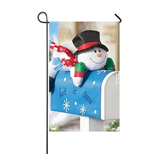 Rossne G sun Let It Snow Tummy Snowman Garden Flag House Flag Decoration Double Sided Flag 12.5