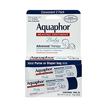 Aquaphor Baby Healing Ointment Advanced Therapy 2 tubes 0.35 oz( Packs of (Baby Salve Tube)