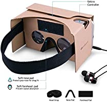 by Samtung Suction Cup Mount for Secure Phone Placement Includes Head Strap More Nose /& Forehead Padding Google Cardboard Virtual Reality Glasses Samsung Galaxy Compatible with iPhone