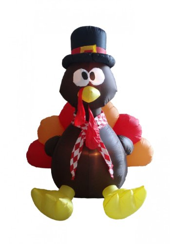 6 Foot Thanksgiving Inflatable Turkey]()
