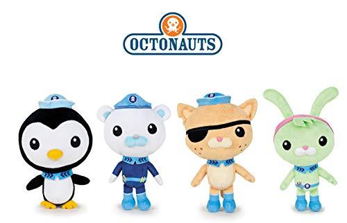 Octonauts Famosa Softies - Pack 4 Plush Toy The Captain Barnacles (Polar Bear) + Kwazii (cat) 7'8