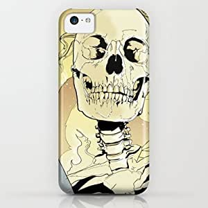 Society6 - Skeleton On Fire iPhone & iPod Case by The Blue Griffin