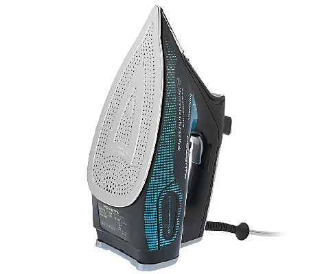 2015 Rowenta Mercedes Benz Fashion Week Steamium 1800w Steam Iron with 3d 400 Hole Micro Steam Stainless Steel Soleplate Black and Teal