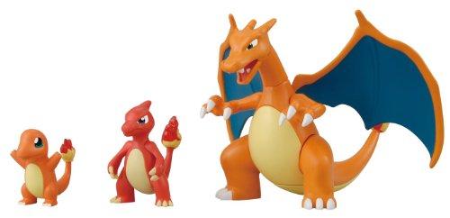 (Pokemon Evolution Plastic Modeling Kit Charmander Charmeleon Charizard Plamo Figure Toy Lizardon Bandai (Japanese Import) )