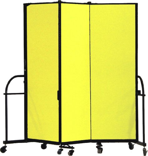 Screenflex Heavy Duty Portable Room Divider (HFSL603-DY) 6 Feet High by 5 Feet 9 Inches Long, Designer Yellow Fabric by Screenflex