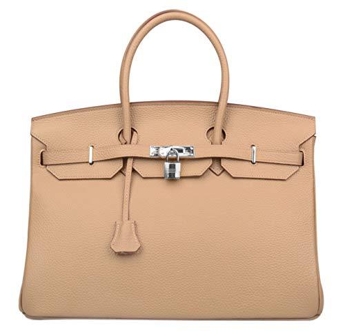 a3d0d691b1 Ainifeel Women s Padlock Genuine leather 40CM Handbags - Import It ...