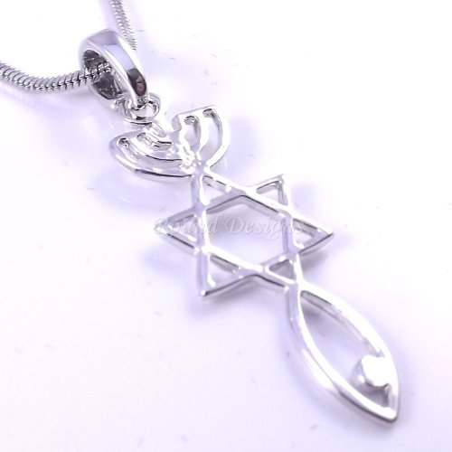(Messianic Seal Necklace Hebraic Roots Silver Grafted 19 Inch Chain Comes In A Lovely Gift Pouch)