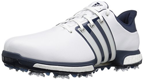 adidas Men's Tour 360 Boost Golf Shoe, WHITE, 9 M US