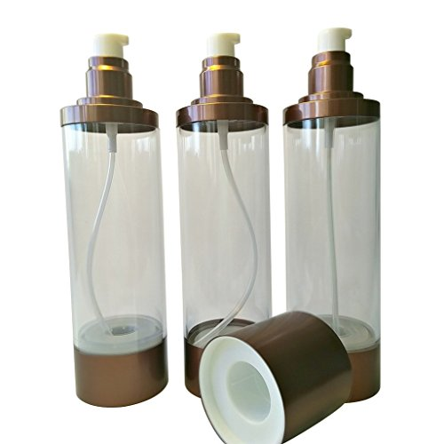 Empty Skincare Refillable Containers - 6 Ounces (Set of 3) for Professional or Homemade Skin Care Use. Keep Your Moisturizer or Lotion Protected and Pump It Out. Beautiful Copper Finish. from Pumps and Bottles