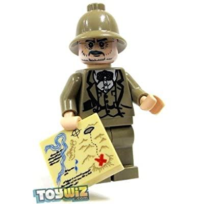 LF16-A2 LEGO Indiana Jones LOOSE Mini Figure Dr. Henry Jones with Hat and Map: Toys & Games