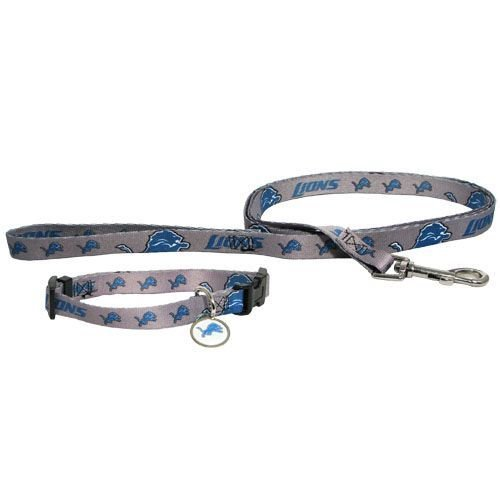 Detroit Lions Pet Set Dog Leash Collar ID Tag SMALL