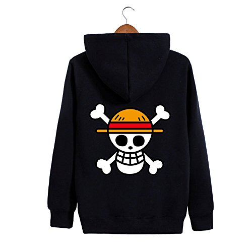 Weimisi One Piece Anime Monkey D. Luffy Zip-up Hoodie (XL)