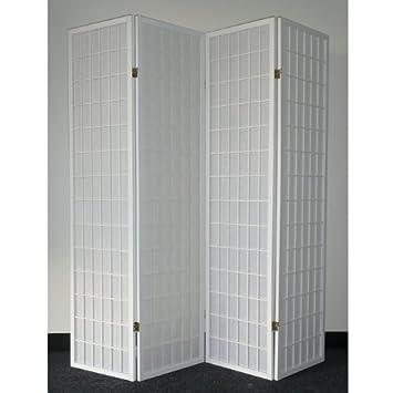 Amazoncom Legacy Decor 4 panel White Wood Shoji Screen Room