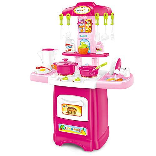 Juegos de Playset de cocina Juego de roles de cocinero Juguete de cocina de alimentos Electrodomésticos con fregadero Grifo...