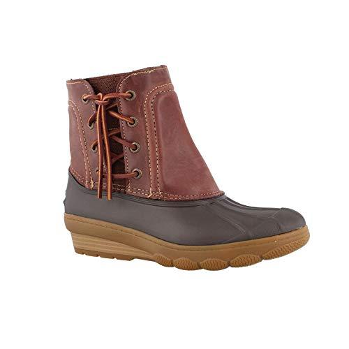 (Sperry Women's, Saltwater Wedge Spray Boots Brown 6.5 M)