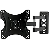 Articulating LED TV Computer Monitor Wall Mount Full Motion JinNiu 70 to 450mm Extension Arm for Most 14-37 inch up to VESA 200x200mm and 15KG Max Load