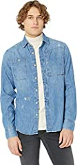 G-Star Size Guide  The G-Star® Utility Hybrid-Archive Slim Shirt Long Sleeve boasts traditional denim craftsmanship with modern styling.  Button-up shirt in a slim fit.  Dyed denim fabrication.  Spread collar.  Chest pockets with button clos...