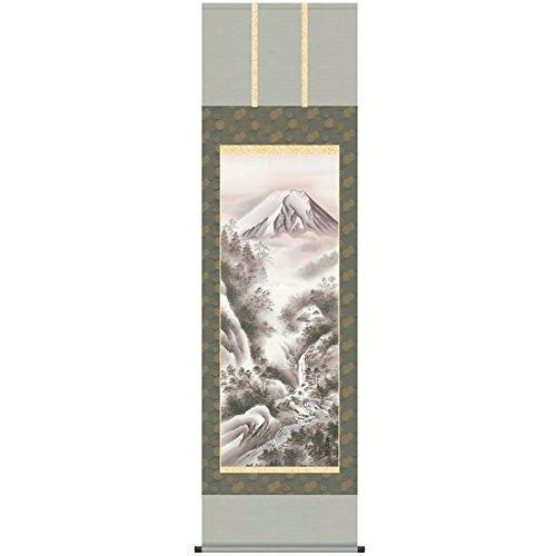 [掛軸][富士閑寂]井原蒼竹[尺五][山水画の掛軸][b3-039]世界文化遺産富士山   B01FF1U238