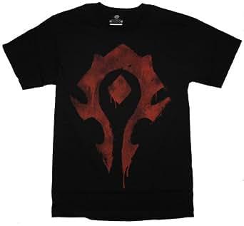 Apthird Men's Designer World Of Warcraft Logo Cotton T Shirt Purple XS
