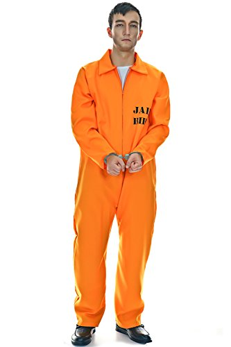 Veroman Men's Halloween Costume (Prisoner (Orange Jumpsuit Costumes)