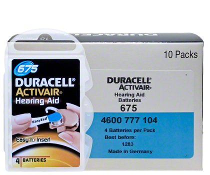 Duracell Size 675 Hearing aid batteries (60 pack) by Duracell