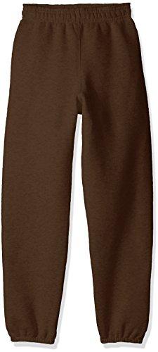 Soffe Big Boys' Yth Pant 9oz Fleece 50c/50p, Brown, MED