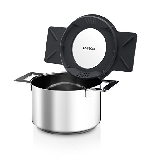 Eva Solo Gravity Cookware - Stainless Steel 2.0 L Cooking Pot with Grey Multifunctional Lid by Eva Solo