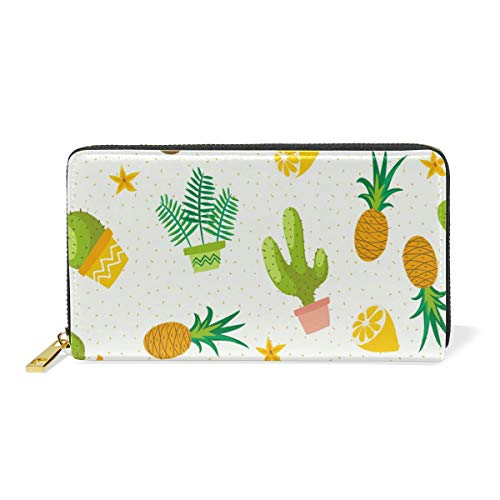 Amazon.com: Galaxy Cacti Cactus - Monedero de piel con ...