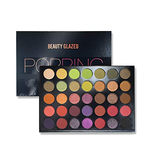 All Make Up Eye Shadow plate Matte Shimmer Glitter Natural Party Fashion Cosmetic Long Lasting Waterproof Kit B55