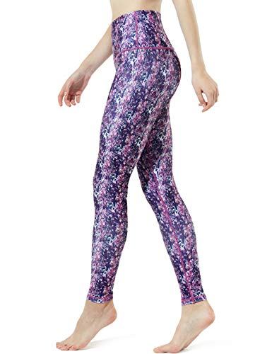 TM-FYP58-RPP_Small Tesla Yoga Woodland Print Pants High-Waist Tummy Control w Hidden Pocket FYP58 (Spandex Woodland Shorts)