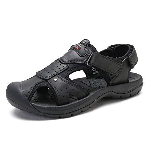 Bruno Marc Men's BANKOK-5 Black Outdoor Fisherman Sandals Size 10.5 M US