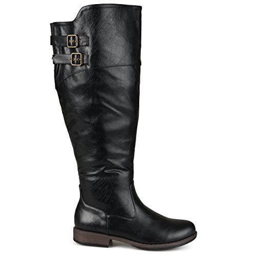 brinley-co-womens-regular-and-wide-calf-knee-high-double-buckle-riding-boot-black-10-wide-calf