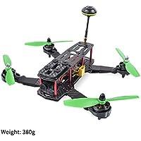 FPV Racing Drone Quadcopter- SunFounder SF250-V 250mm Carbon Fiber Frame Kit F3 Flight Controller SunFounder Simon 12A ESC SF2204 2300KV Motor with 700TVL HD Camera 200MW 5.8G 32CH Transmitter