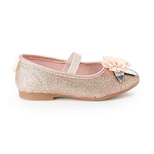 OshKosh B'Gosh Girls Maci Dressy Ballet Flat, Rose, 13 M US Little Kid (Girls Dress Flat Shoes)