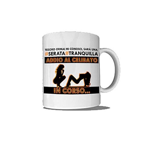 Altra Marca Tazza Breakfast per Addio al Celibato Personalizzata Mug Prima Colazione Serata Tranquilla (Manico Standard)