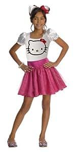 Rubbies - Disfraz de Hello kitty para niña, talla M (5 - 6 años) (884752_M)