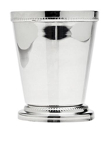 Silverplate Vase (Godinger Beaded Mint Julep Cup, 3.25