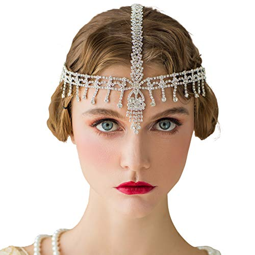 SWEETV The Great Gatsby Headpiece - Rhinestone 1920s