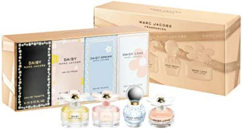 Marc Jacobs Daisy 4-Piece Mini Gift Set (Daisy, Daisy Eau so Fresh, Daisy Dream, Daisy Love)