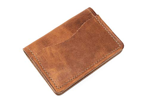 buy online e06cb 28ff4 Popov Leather - Front Pocket Wallet for Men Horween Chromexcel, Minimalist  and Handmade