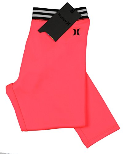 Hurley Youth Performance Tights Large Hyper Punch Pink by Hurley